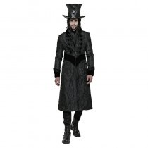 Gothic Victoria Gorgeous Fitted Men's Long Coat