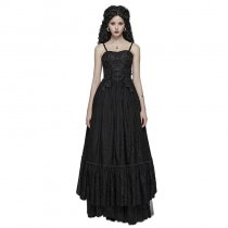 Gothic Long Lace Dress Women's