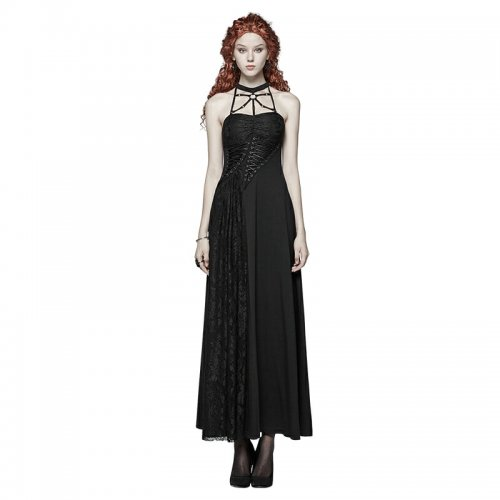 Gothic Daily lace flower Slim fitting Women's Dress