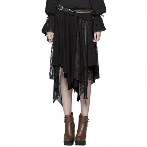 Steam Punk Half Women's lace Skirt