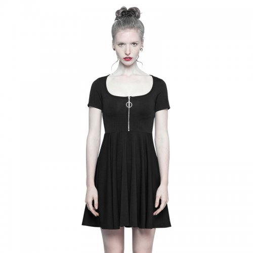 Punk Astrologers Series Micro-halter  Women's Dress Black