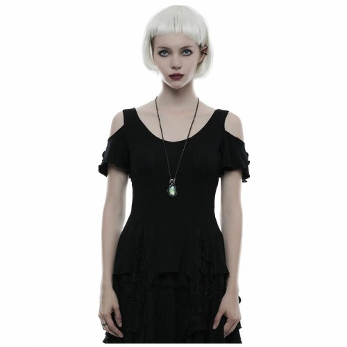 Gothic elegant short sleeves Women's T-shirt