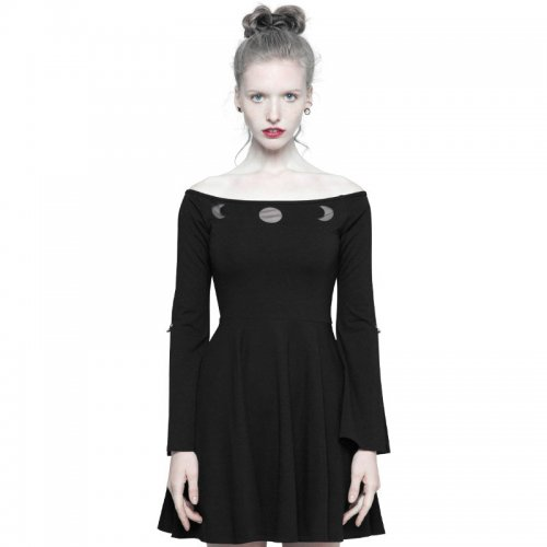 Punk Astrologers Series  Strapless Women's Dresses Black