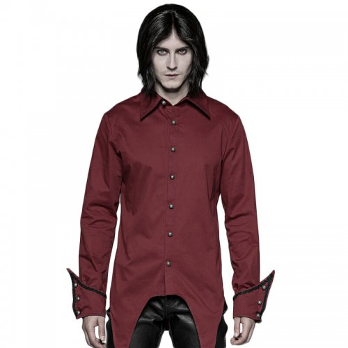Gothic Simple men's black/red Shirt