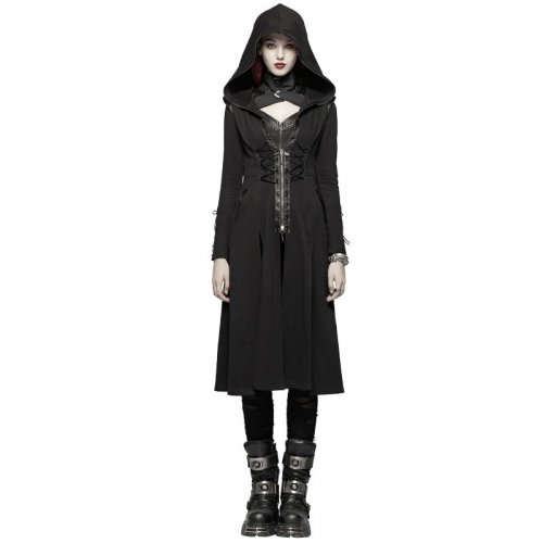 Punk Hooded Knit Women's Jacket