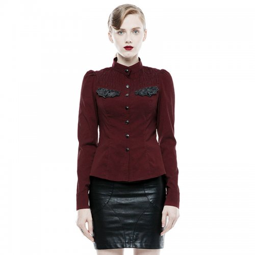 Punk Handsome Women's Red/Black Shirt