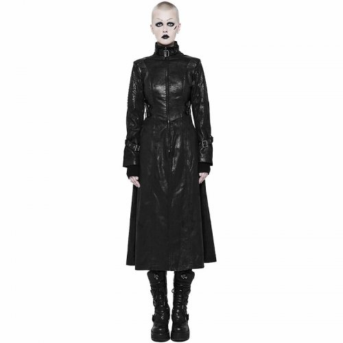 Darkness Middle women's Length Coat