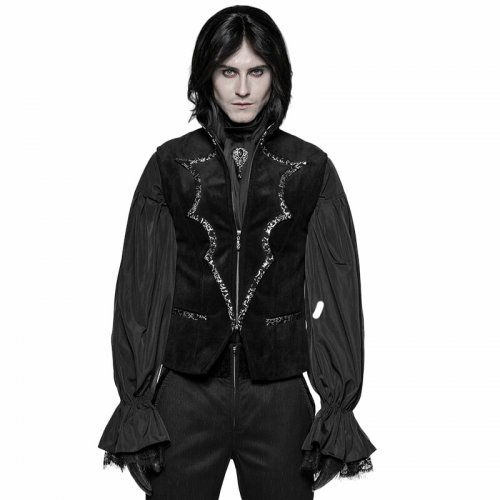 Gothic Bat Collar Dress Men's Vest