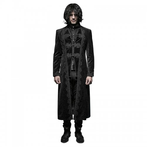 Gothic gorgeous retro style flower pattern long coats