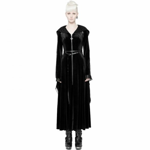 Gothic Cap women's Long Coat