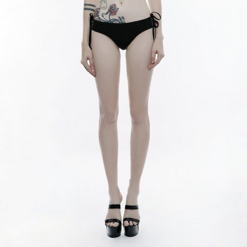 Gothic women's black Swimwear