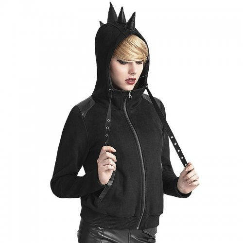 Punk rhinoceros horn Women's coat