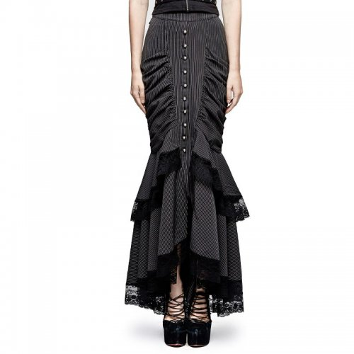 Steampunk full-skirted fishtail Women's skirt