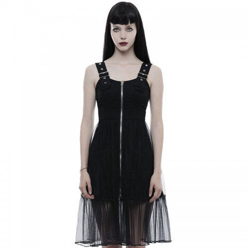 Punk Rave_Punk Handsome Mosaic Women's light mesh Dress