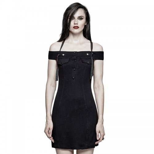 Punk strapless Comfortable Slim fit women's dress