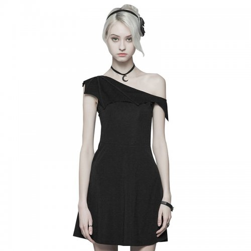 Gothic Dark Series Bat Strapless Women's Dress