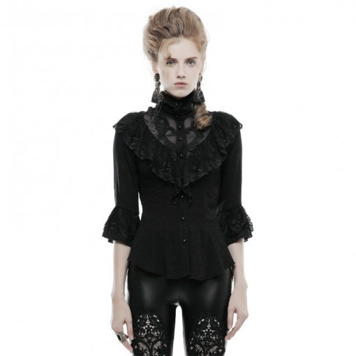 Gothic phoenix tail three quarter sleeve women's shirt