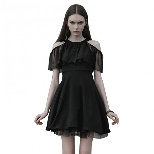 Gothic Chiffon Silk A type Women's Dress