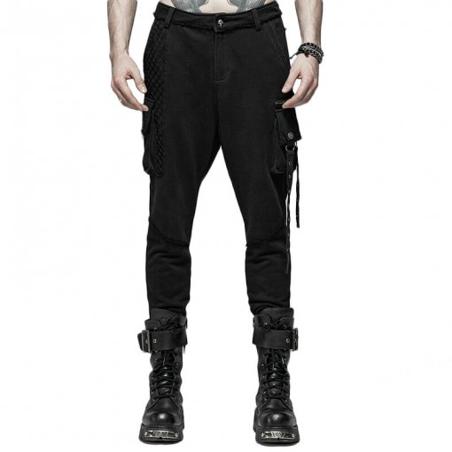Punk Dark Knit Men's Trousers