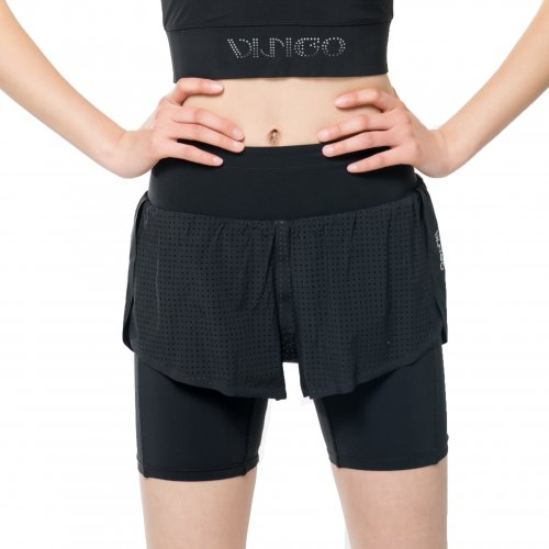 Aura Black Double Shorts