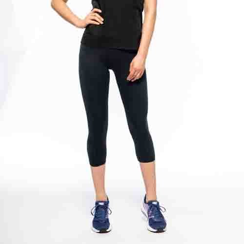 Herse Fitness Black Cropped Leggings