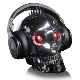 Punk Skull Bluetooth Speakers with mic and led light show