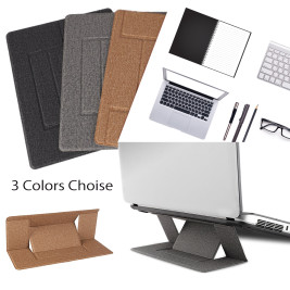 Invisible Laptop Stand, Folding Portable Computer Notebook Stand For Macbook Pro Ipad Mac book Air, Tablets Adjustment Holder Up to 15.6''