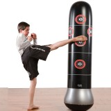 Inflatable Kids Punching Bag Stress Punch Tower Speed Bag Stand  MMA Target Bag