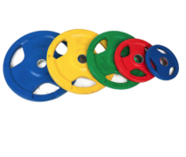 Rubber coated 50mm 3 hole colorful gym barbell weight plate rubber cover