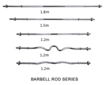 chrome curl barbell bar