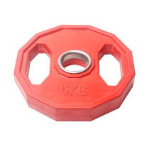 Wholesale Gym Workout Colorful Rubber Coated Barbell Weight Plate