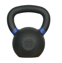 Powder Coated Kettlebell with Color Ring