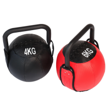 PU Leather Iron Sand Soft Kettlebell