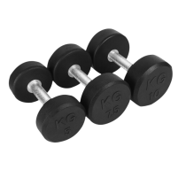 Round Head Rubber Coated Dumbbell
