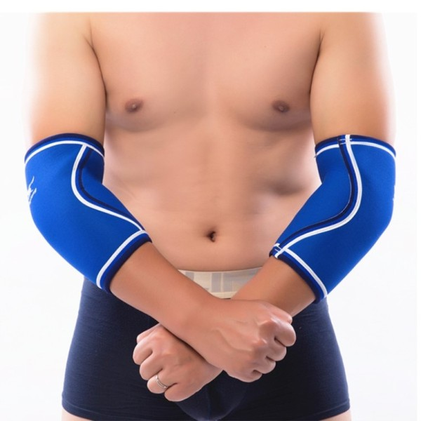 sports protective fitness exercises 7mm neoprene elbow sleeve for powerlifting