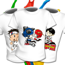 Customized logo T-shirt for children's quick-drying Taekwondo