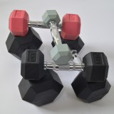Wholesale very good Hex Dumbbell/Fixed rubber dumbbell