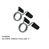 2  barbell bar Spring Clips with rubber grips