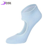 Pure color open back cotton sports dispensing yoga socks