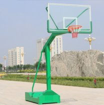 The flat box resembles a hydraulic basketball stand