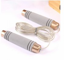 leather skipping rope logo student gymnastics sports jump rope fitness rubber jump rope