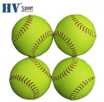 Factory direct custom logo office size and weight 12'' softball balls