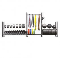 Cross training fitness Equipment Multi Storage Rack Barbell Plate Dumbbell Kettlebell Rack