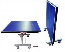Adjustable removable folding table tennis table with wheels