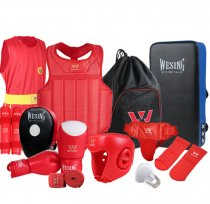 wushu sanda 8pcs set sanda protective gear sanda equipment