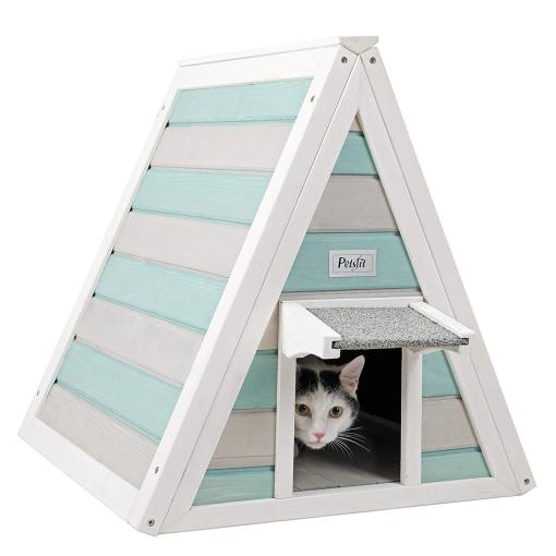 Petsfit  Wooden Triangle Cat House