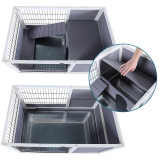 Petsfit Indoor Rabbit Hutch with Hideout for Rest and Ramp for Enter and Out, 35.5  x 21  x 21