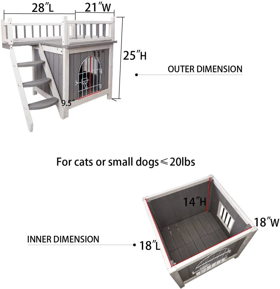 Us 99 99 Petsfit Indoor Wooden Dog Pet Cat House With Stairs M Petsfit Com