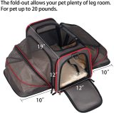 Petsfit 2 Sides Expandable Carrier Brown/ Red