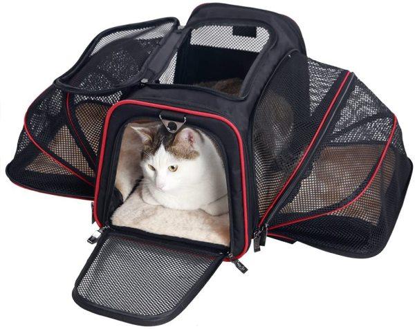 Petsfit 2 Sides Expandable Carrier Black/ Red